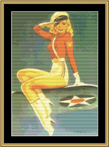 Pin-Up Girl Armed Forces | Crafting | Cross-Stitch | Other