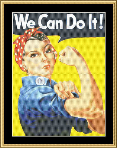 Rosie The Riveter | Crafting | Cross-Stitch | Wall Hangings