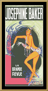 Josephine Baker | Crafting | Cross-Stitch | Wall Hangings