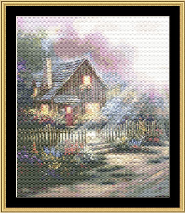 Cottage Lights | Crafting | Cross-Stitch | Wall Hangings