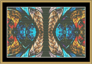 Fractal Unlimited 01 | Crafting | Cross-Stitch | Wall Hangings
