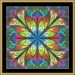 Fractal Unlimited 02 | Crafting | Cross-Stitch | Wall Hangings