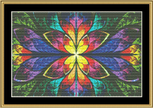 Fractal Unlimited 03 | Crafting | Cross-Stitch | Wall Hangings
