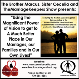 using the magnificent power of vision to get to a much better place in our marriages, our families and in our own lives!