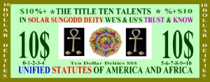 U.S.Aa+.$10 Dollar Deity-1 | Photos and Images | Concept