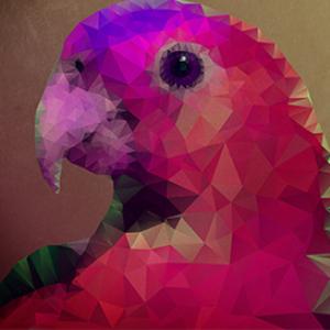 low polygon parrot