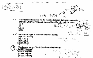 chem 208 past final exams, quiz answers.