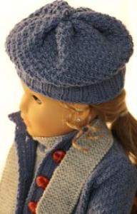 DollKnittingPatterns 0141D SOPHIA (Janvier) - Combinaison, Veste, Bonnet, Chaussettes et Écharpe-(Francais) | Crafting | Knitting | Other