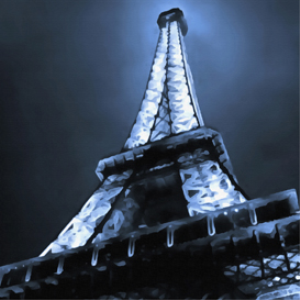 eiffel tower digital painting
