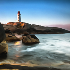 peggy's cove digital painting