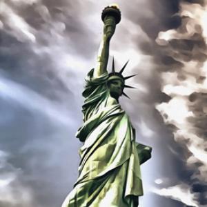 statue of liberty digital painting