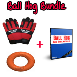 ball hog glove size medium + ball hog grip & dvd bundle (download)