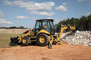 CAT Backhoe on the Job | Photos and Images | Technology