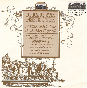 beethoven: missa solemis in d, op. 123 - gürzenich symphony orchestra and chorus of cologne/gunter wand