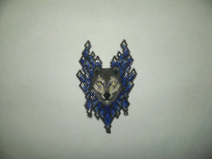 Brick Stitch Wolf Delica Seed Beading Pendant Pattern-421 | Crafting | Jewelry