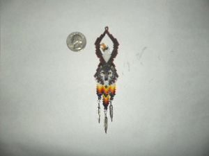 brick stich eagle wolf totem delica seed beading earring pattern-451