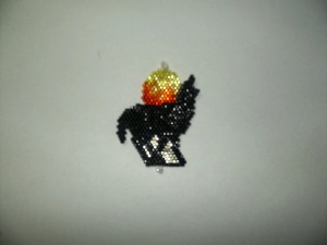 Brick Stitch Howling Wolf Delica Seed Beading Pendant Pattern-306 | Crafting | Jewelry
