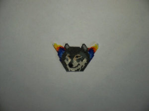Brick Stitch Gray Wolf Delica Seed Beading Pendant Pattern-441 | Crafting | Jewelry