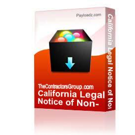 california legal notice of non-responsibility