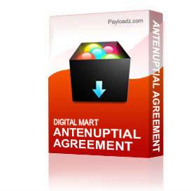Antenuptial Agreement | Other Files | Documents and Forms
