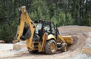 CAT Backhoe at the Construction Site | Photos and Images | Technology