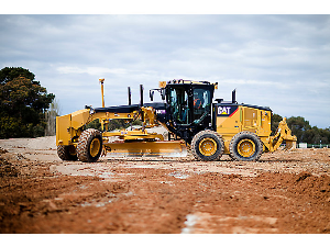 CAT Motor Grader at the Construction Site | Photos and Images | Technology