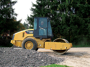 Caterpillar Compactor at the Construction Site | Photos and Images | Technology