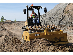 Caterpillar Soil Compactor at the Construction Site | Photos and Images | Technology