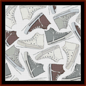 Abstract Footwear 1 - Abstract cross stitch pattern by Cross Stitch Collectibles | Crafting | Cross-Stitch | Wall Hangings