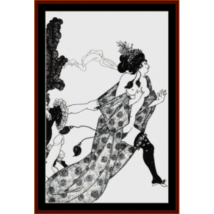 Cinesias Entreating Myrrhina - Beardsley cross stitch pattern by Cross Stitch Collectibles | Crafting | Cross-Stitch | Wall Hangings