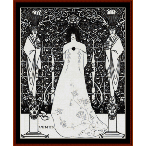 Venus and Tannhauser - Beardsley cross stitch pattern by Cross Stitch Collectibles | Crafting | Cross-Stitch | Wall Hangings