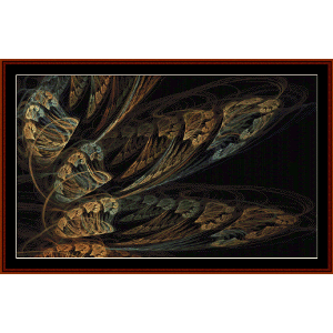 Fractal 543 cross stitch pattern by Cross Stitch Collectibles | Crafting | Cross-Stitch | Wall Hangings