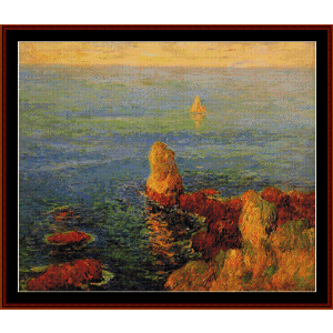 Calm Seat at L'ile de Groix - Moret cross stitch pattern by Cross Stitch Collectibles | Crafting | Cross-Stitch | Wall Hangings