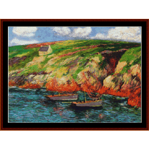 Fishing Boats Near Breton Coast cross stitch pattern by Cross Stitch Collectibles | Crafting | Cross-Stitch | Other
