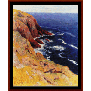 Cliffs at the L'ile de Groix - Moret cross stitch pattern by Cross Stitch Collectibles | Crafting | Cross-Stitch | Wall Hangings