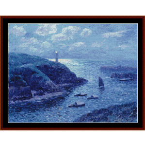Port of Dolan, Night - Moret cross stitch pattern by Cross Stitch Collectibles | Crafting | Cross-Stitch | Wall Hangings