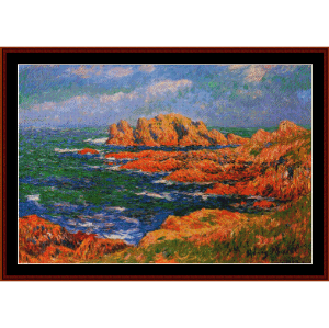 The Rocks - Moret cross stitch pattern by Cross Stitch Collectibles | Crafting | Cross-Stitch | Wall Hangings
