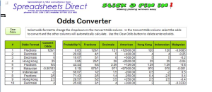 Enter the odds in any format and click Convert