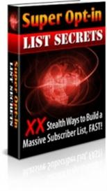 Super optin list secrets | eBooks | Internet