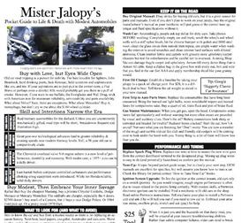 mister jalopy's pocket guide to life & death with modest automobiles