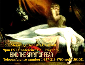bind the spirit of fear