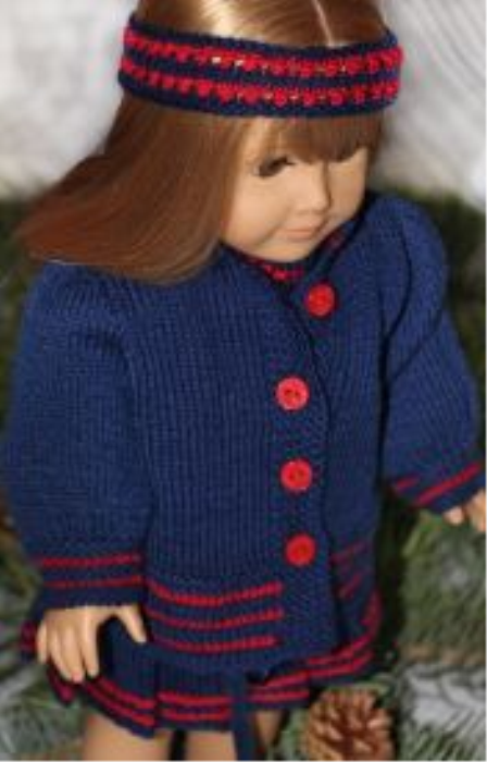 Second Additional product image for - DollKnittingPatterns 2014 Cadeau de Noël-Combinaison-(Francais)