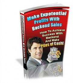 make expotential profits from backend sales - with private labels righ