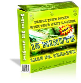 15 Minute Lead Page Creators - with Private Label Rights | Software | Business | Other