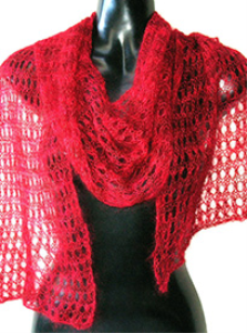 haiku lacy scarf or shawl knitting pattern