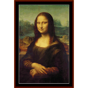 Mona Lisa - DaVinci cross stitch pattern by Cross Stitch Collectibles | Crafting | Cross-Stitch | Wall Hangings