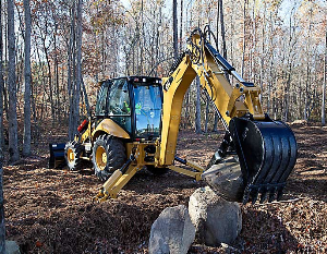 cat backhoe 430f it
