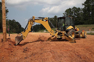 cat backhoe 450f
