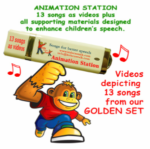 animation station with 13 songs as videos