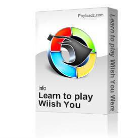 Learn to play Wiish You Were Here by Pink Floyd | Movies and Videos | Educational